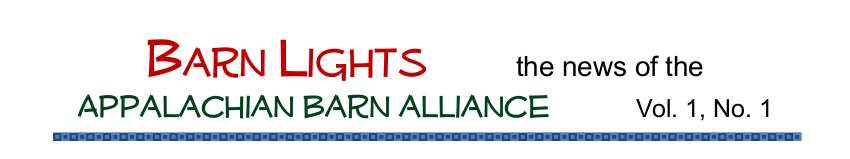 Appalachian Barn Alliance Newsletter